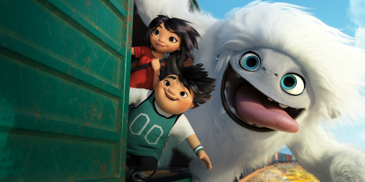 Abominable Everest and friends ride in a train