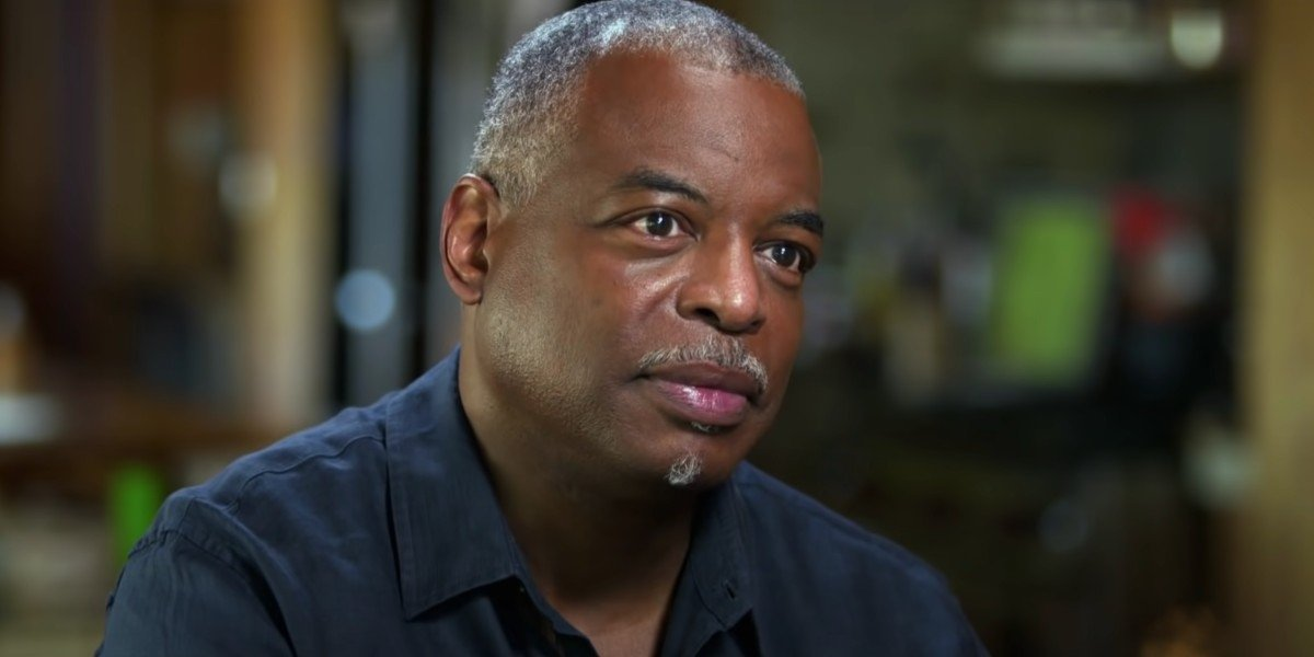 LeVar Burton in the middle of interview