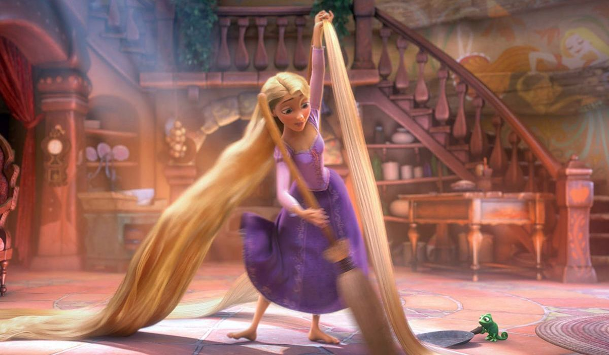 Rapunzel singing When Will My Life Begin in Tangled