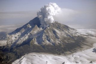 The 2009 eruption of Alaska's Redoubt volcano.
