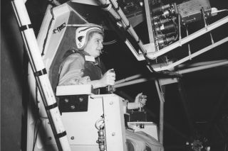 space history photo, gimbal rig, female pilot