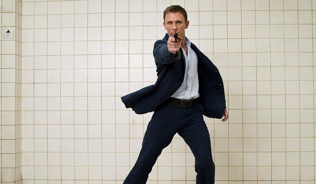 Casino Royale Daniel Craig aims his gun at the camera