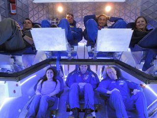 Astronauts and Industry Experts inside Dragon Spacecraft