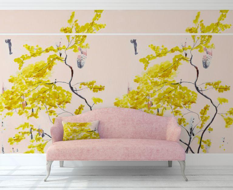 Chinese tree mural