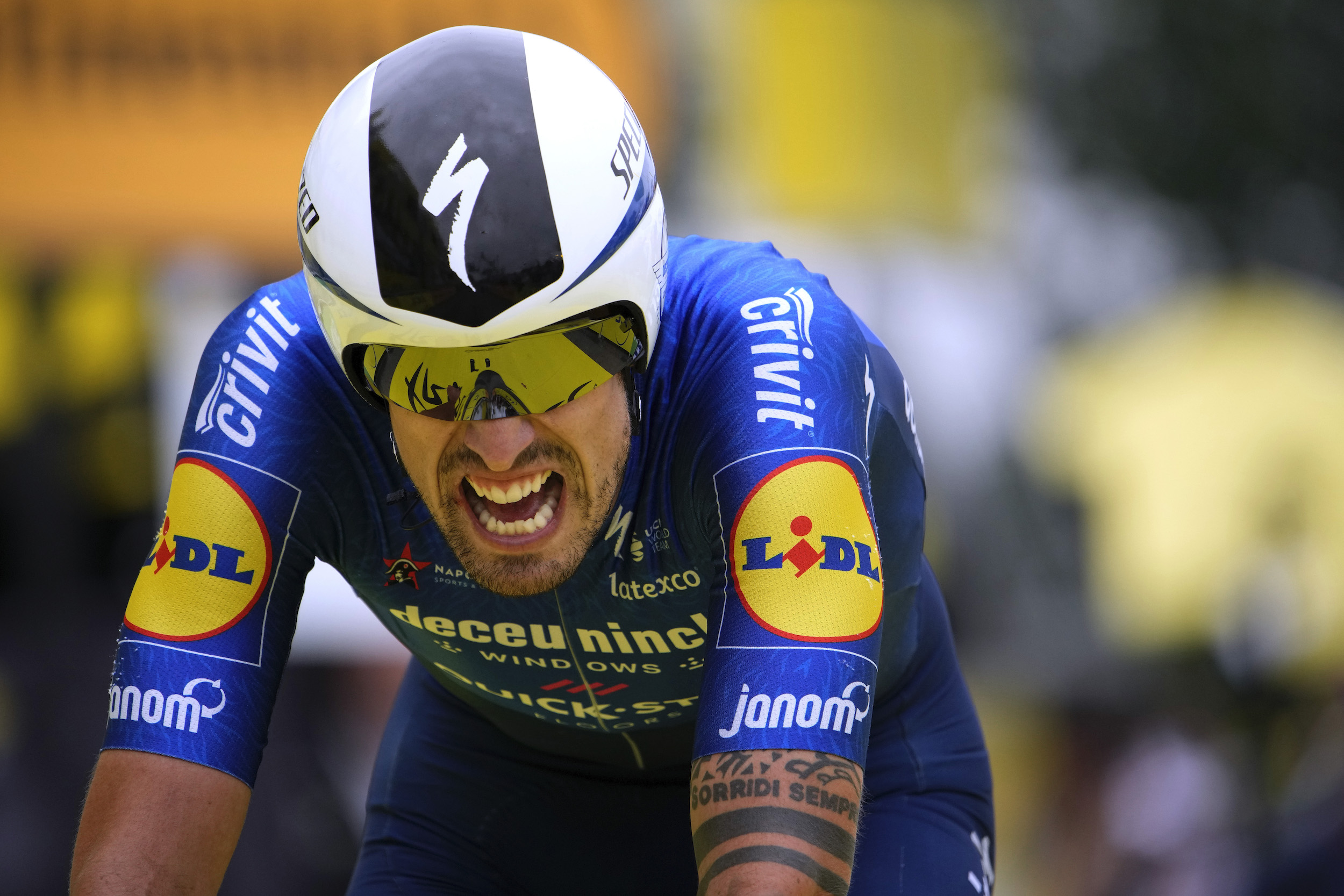 Mattia Cattaneo on stage five of the Tour de France