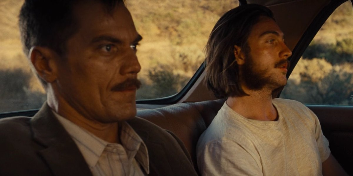 Michael Shannon and Aaron Taylor-Johnson in Nocturnal Animals