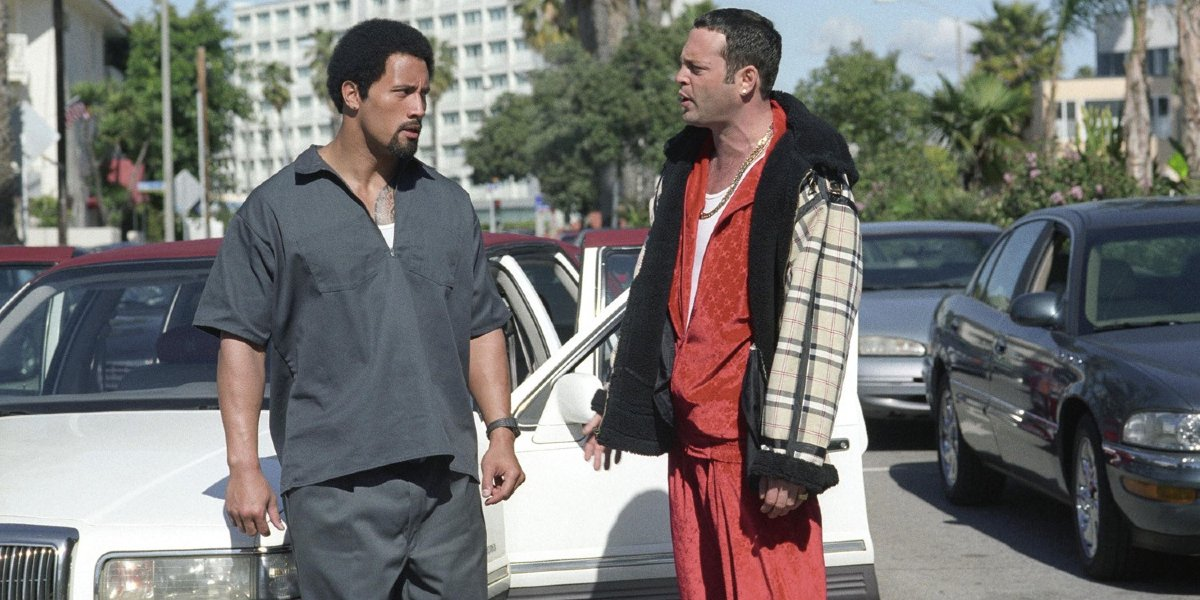 Dwayne Johnson and Vince Vaughn in Be Cool