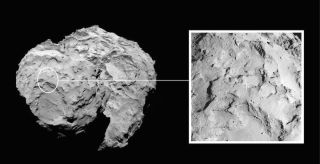 The Philae comet lander on the European Rosetta spacecraft will land on Target J on the Comet 67P/Churyumov-Gerasimenko on Nov. 12, 2014. The European Space Agency unveiled the landing site on Sept. 15.