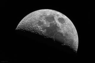 Moon 44% Illuminated by Miguel Claro