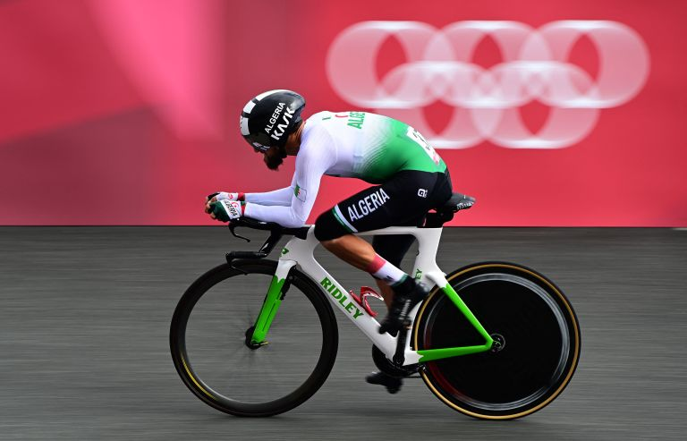 Azzedine Lagab riding at the Tokyo 2020 Olympic Games
