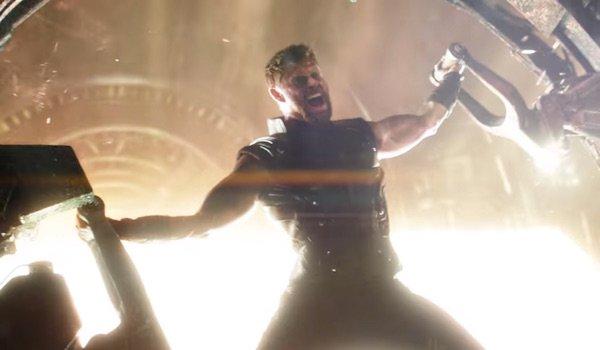 Thor screaming in Avengers: Infinity War