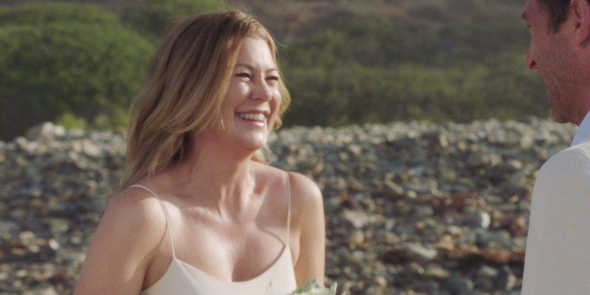 Grey's Anatomy Meredith Grey beach wedding