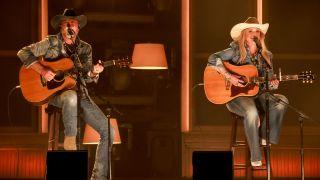 Jon Randall and Miranda Lambert perform for the 56th Academy of Country Music Awards