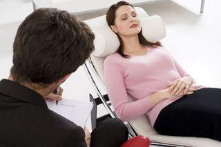 psychotherapist with patient