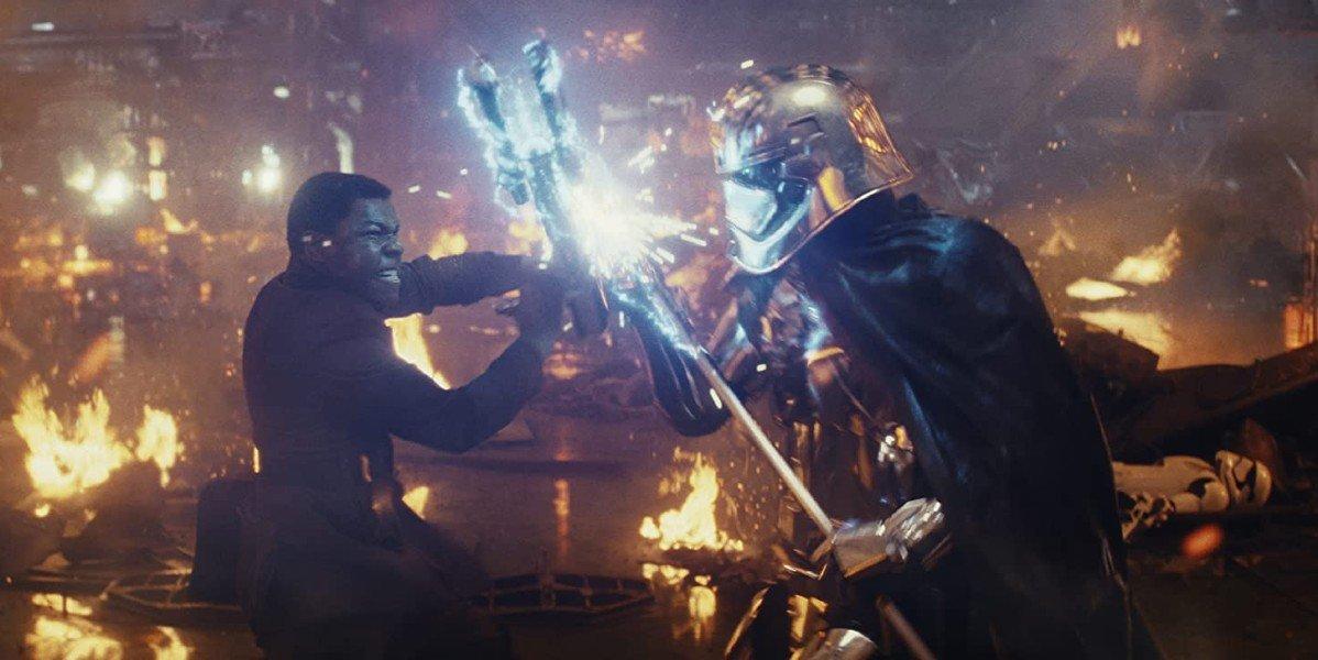 Gwendoline Christie and John Boyega in Star Wars: The Last Jedi
