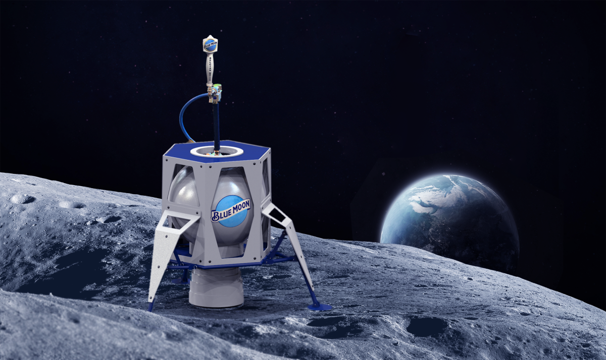 Blue Moon, Meet Blue Moon Beer: Moon-Lander-Themed Kegs to Celebrate Apollo 11