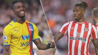 Crystal Palace vs Brentford live stream Premier League — Wilfried Zaha of Crystal Palace and Ivan Toney of Brentford