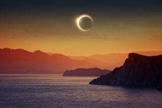 A solar eclipse.