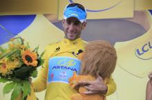 Vincenzo Nibali (Astana) leads the Tour de France