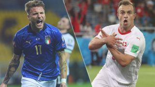 Italy vs Switzerland live stream at Euro 2020 — Ciro Immobile of Italy and Xherdan Shaqiri of Switzerland
