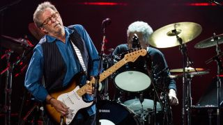 Eric Clapton performs live on stage at Royal Albert Hall on May 14, 2015 in London, England