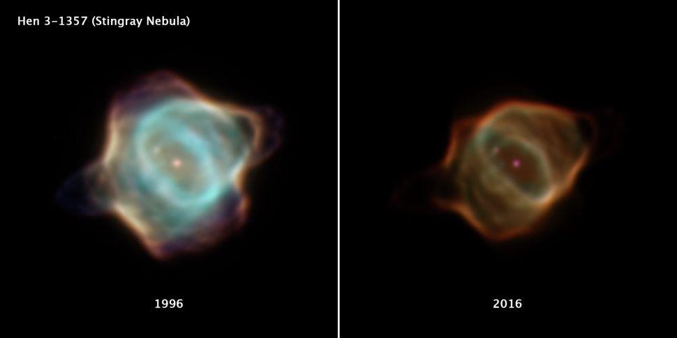 The Stingray nebula is fading fast, Hubble telescope photos reveal