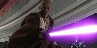 Samuel L. Jackson as Mace Windu in Star Wars: The Revenge of the Sith