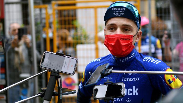Remco Evenepoel at the 2021 Giro d'Italia stage one