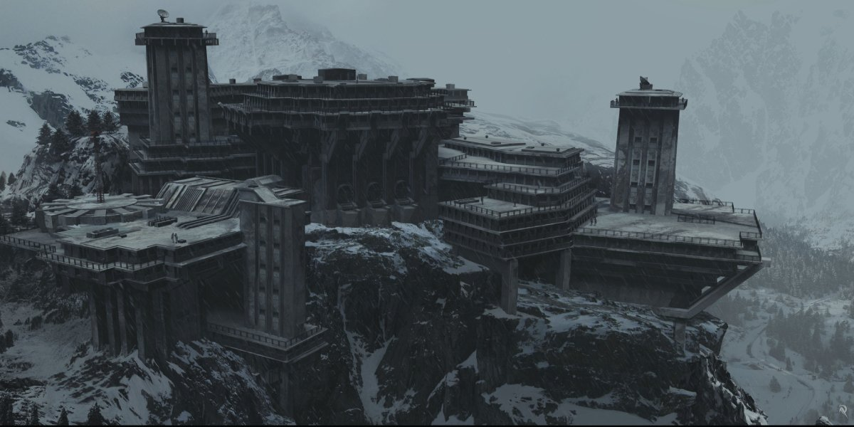 The snowy dream fortress from Inception