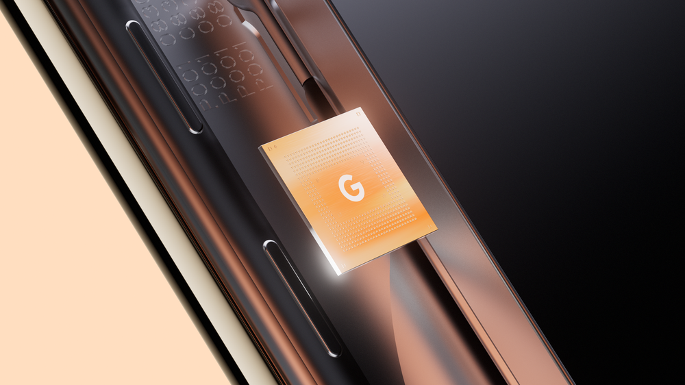 an image showing a render of the google pixel 6 tensor chip