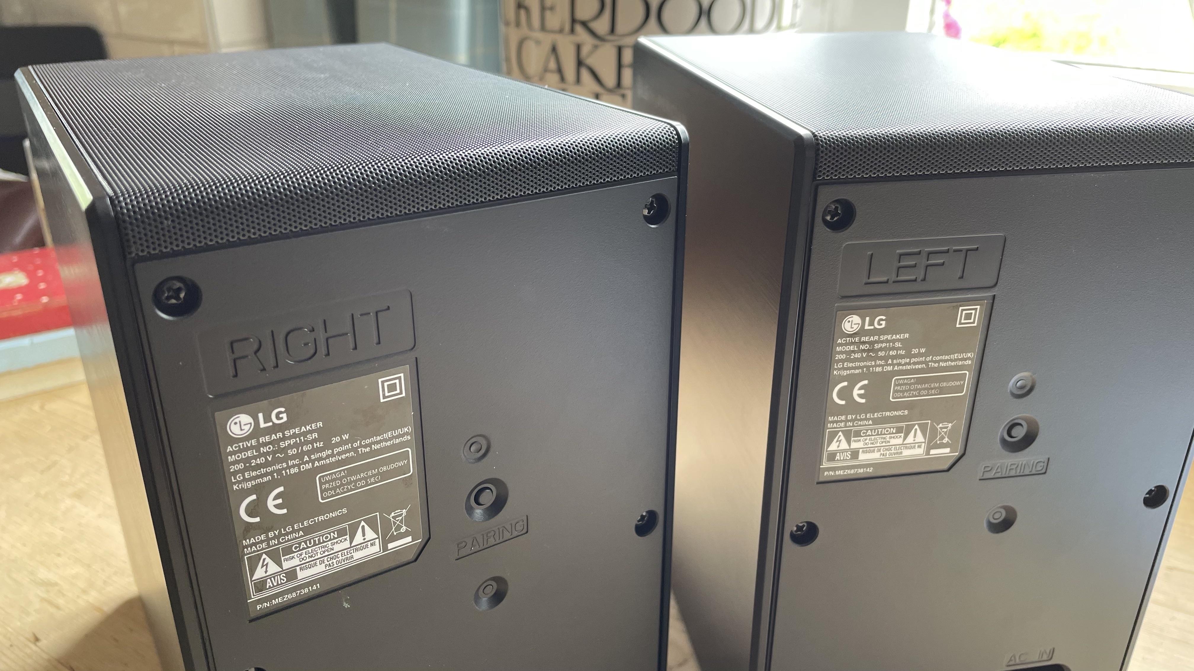 the rear speakers of the lg sp11ra soundbar