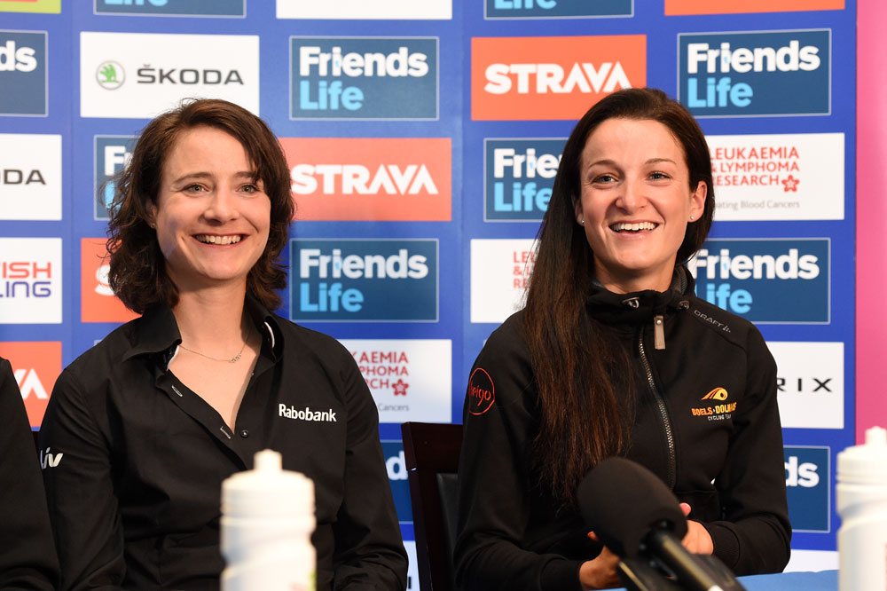 Photo: The teams of Marianne Vos and Lizzie Armitstead (right) will both take part in the 2015 Women's Tour.