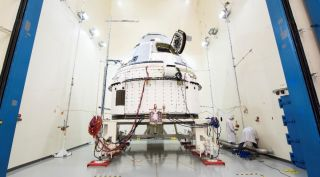 The CST-100 Starliner that will be used for a crewed test flight undergoes testing. That mission to the ISS will be extended, potentially by months, NASA said April 3.
