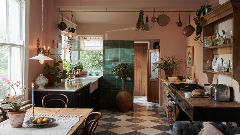 traditional kitchen with old world feel