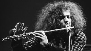 Ian Anderson playing the flute