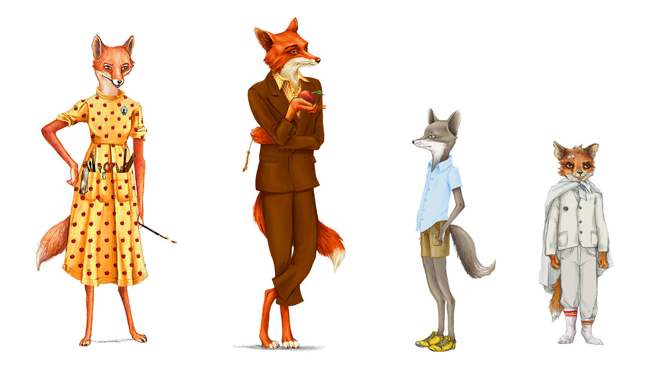 posture in foxes: character design
