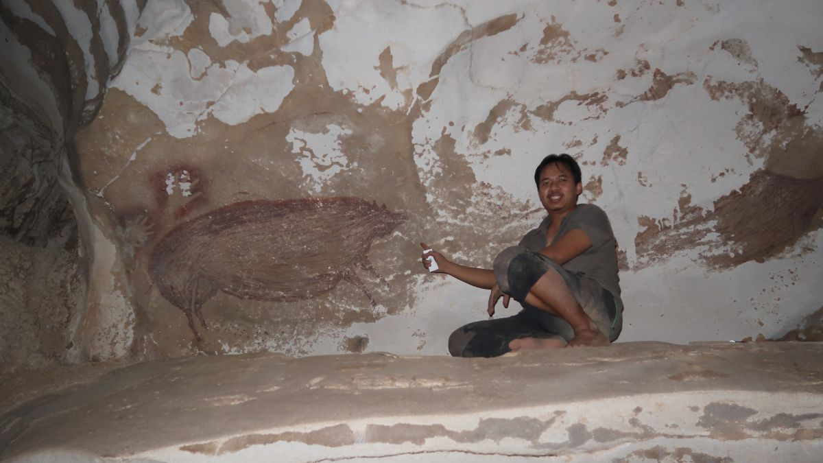 Warty pig is oldest animal cave art on record | Live Science