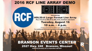 RCF Continues 2016 Line Array Roadshow