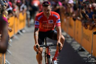 Nicolas Roche (Sunweb) wore the red jersey at the 2019 Vuelta a Espana before breaking his kneecap in a crash on stage 6.