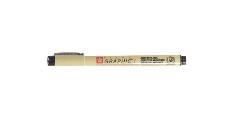 Best pen for sketching: Sakura Pigma Graphic 1