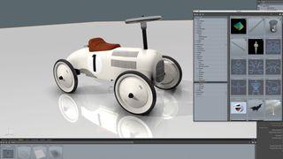 A model car made in Modo 12