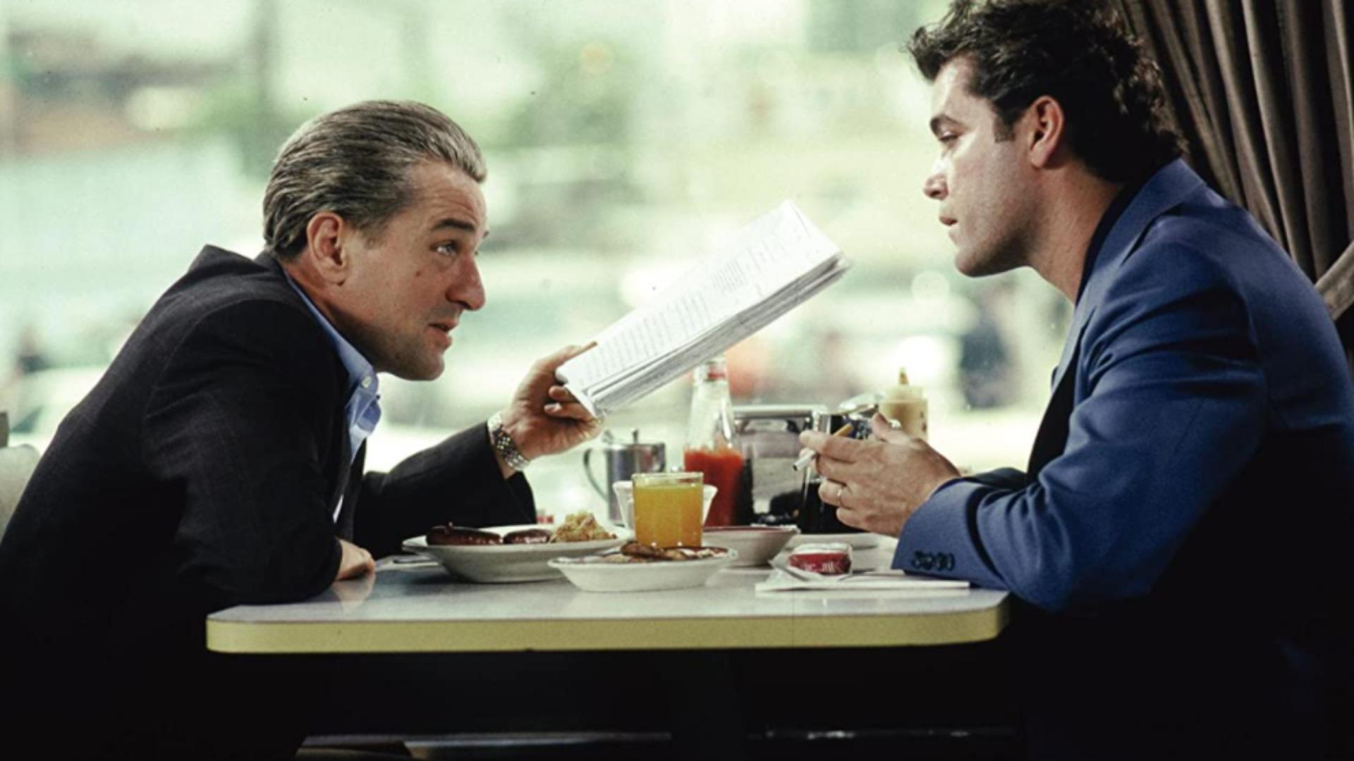 Robert De Niro y Ray Liotta en Goodfellas