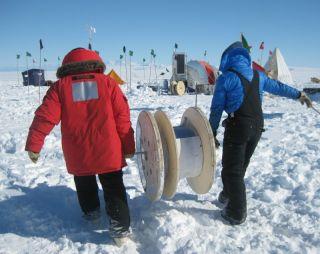 fiber-optic cable, ross ice shelf, antarctica, antarctic research, ice shelves, glaciers, antarctica science