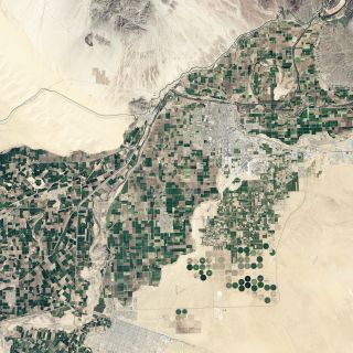 An image of the Colorado delta