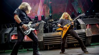 [L-R] David Ellefson and Dave Mustaine of Megadeth