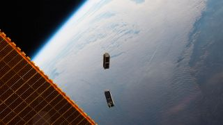 Two CubeSats, part of a constellation built and operated by Planet Labs Inc. to take images of Earth, were launched from the International Space Station on May 17, 2016.