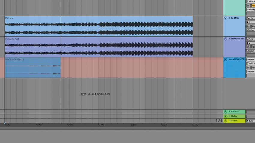 How to quickly extract vocals from a song using phase cancellation