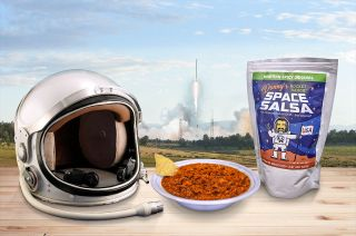 Danny's Rocket Ranch Space Salsa adapts retired science teacher Danny Jaques' southwestern recipe for spaceflight by using freeze-dried ingredients