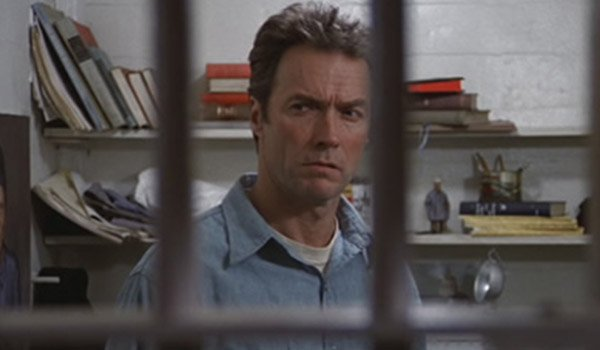 Clint Eastwood in Escape From Alcatraz