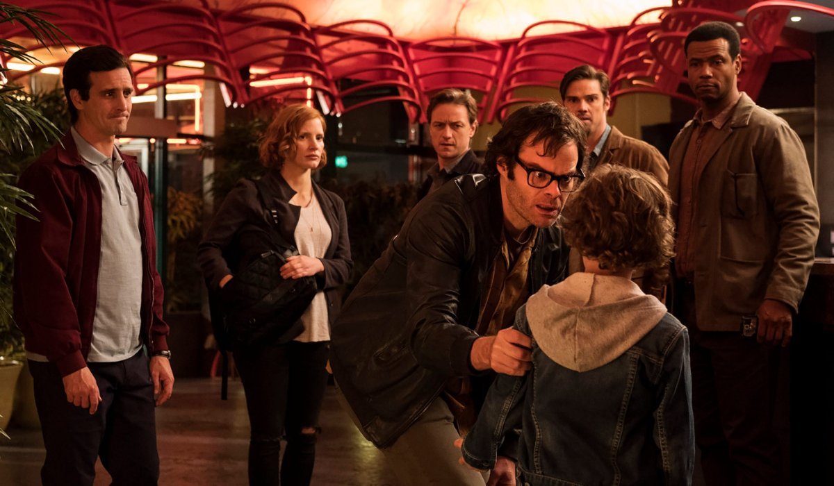 IT Chapter Two Richie grabs the kid with the skateboard at the Chinese restaurant